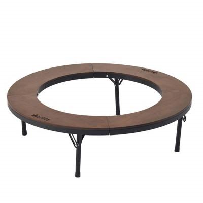 LOGOS アイアンウッド囲炉裏サークルテーブルL No.81064106 テーブル・チェア