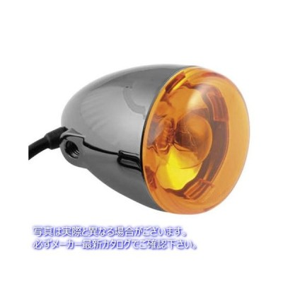 CHRIS PRODUCTS クリス プロダクツ 8500A-BN DEUCE T/S FRT BLK NKL AMBER TURN SIGNAL BLK 222782 【米国取寄せ】