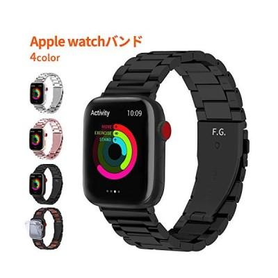 Fullmosa SUS アップルウォッチ バンド ステンレス 40mm 44mm apple watch series 6 SE42mm ブラック