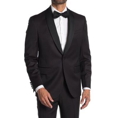 テッドベーカー メンズ ジャケット&ブルゾン アウター Josh Burgundy Sharkskin One Button Tuxedo Jacket BURGUNDY