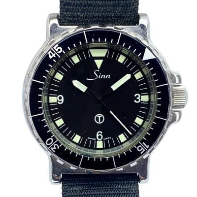 限定値下げ SINN ジン 19001 Military Diver ミリタリーダイバー ブラック メンズ クォーツ式 ステンレス J11407