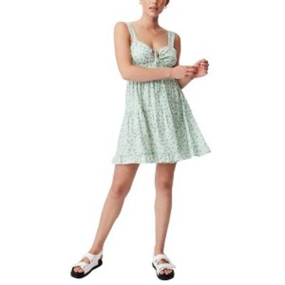 コットンオン レディース ワンピース トップス Woven Sandy Skater Dress KENDELLE DITSY SPRING MINT