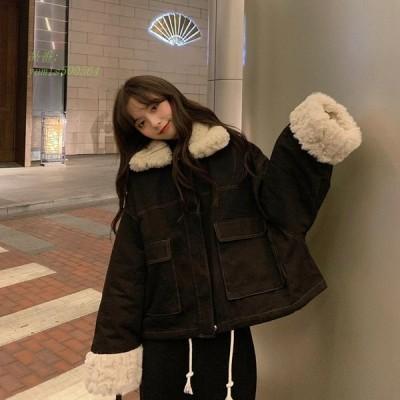 韓国風ダウン コート レディース アウター 軽量 可愛い あったか 秋冬 ダウンジャケット 防風 カジュアル 中綿 学生服 防寒