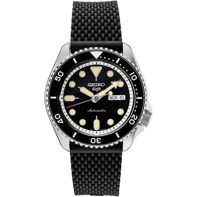 腕時計  Seiko SRPD95 Seiko 5 Sports Men's Watch Black 42.5mm Stainless Steel 輸入品
