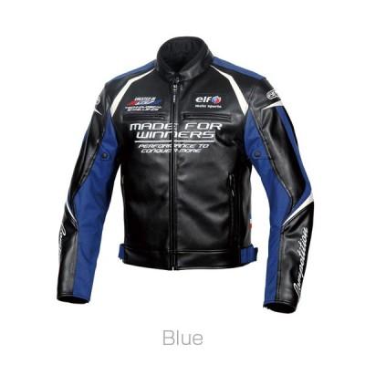 (特典A付) エルフ EJ-W108 エボルツィオーネPUレザージャケット ブルー (2020-21秋冬モデル)