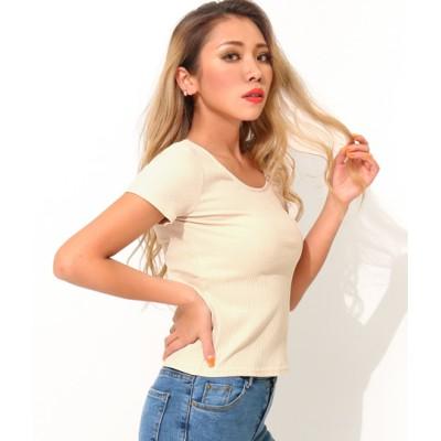 anap Latina 両UネックスリムフィットTシャツ