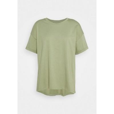 エスプリ Tシャツ レディース トップス CORE TEE - Basic T-shirt - light khaki