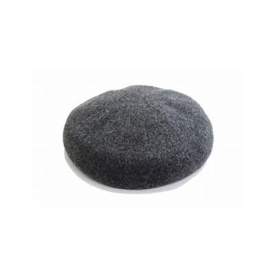 Blue Nest ブルーネスト ベレー帽 863330 チャコールグレー ウール 帽子 レディース 婦人 オシャレ 防寒対策 暖かい帽子 サイズ調節可 日本製 ネット通販 秋冬
