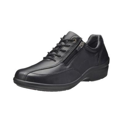 レディース ウォーキングシューズ 幅広 靴 トラベルシューズ 履き心地の良い靴 アキレス・ソルボ 385 黒