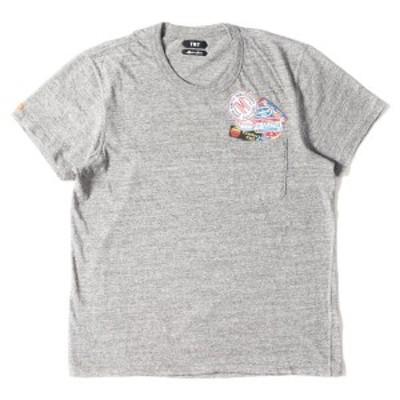 TMT ティーエムティー Tシャツ フェイクワッペン ポケット Tシャツ S-SL 19-1 RAFI JERSEY FAKE WAPPEN 18SS グレー L 【メンズ】【美品