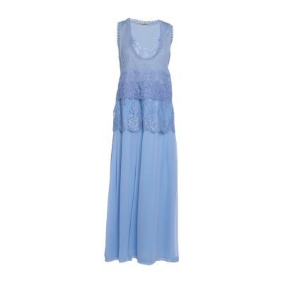 エルマノ シェルヴィーノ ERMANNO SCERVINO ロングワンピース&ドレス ターコイズブルー 38 シルク 100% / ポリエステル /