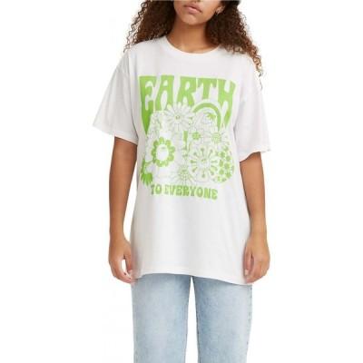 リーバイス LEVI'S レディース Tシャツ トップス Earth To Everyone Graphic Tee Earth To Everyone White