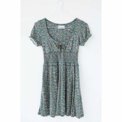 アーバンアウトフィッターズ Urban Outfitters レディース ワンピース ワンピース・ドレス UO Charlie Knit Short Sleeve Mini Dress Flo