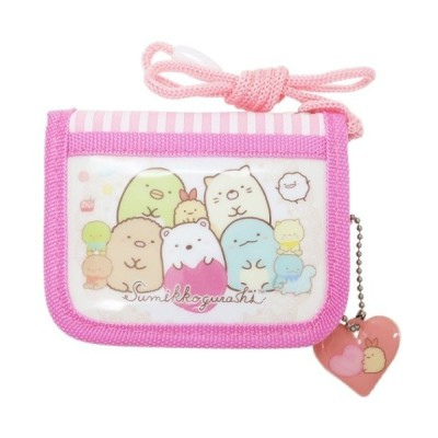すみっコぐらし 子供用財布 キャラクター グッズ キッズ ラウンド ウォレット ピンク サンエックス