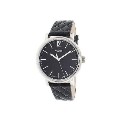 タイメックス Timex レディース Heritage TW2P71100 ブラック レザー クォーツ 腕時計