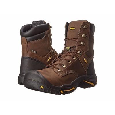ブーツ キーン メンズ KEEN Utility MT Vernon 8 Inch - 1013257 Cascade ブラウン スチール Toe ブーツ