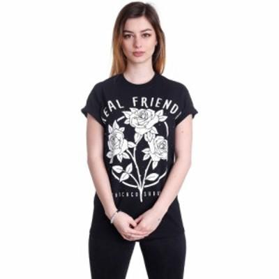 インペリコン Impericon レディース Tシャツ トップス - Flowers - T-Shirt black