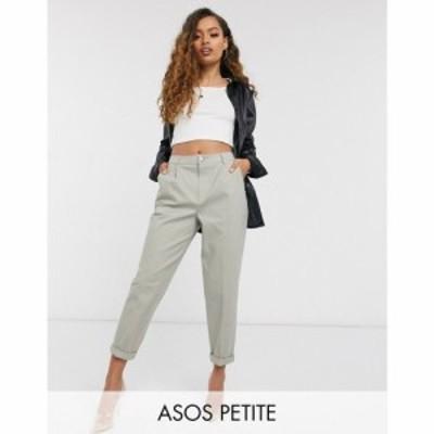 エイソス ASOS Petite レディース ボトムス・パンツ チノパン ASOS DESIGN Petite chino trouser with cargo pockets in sage セージ