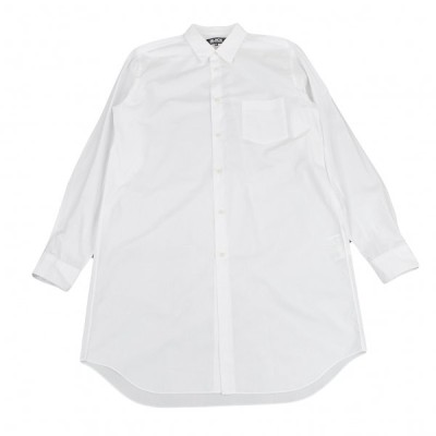 ブラックコムデギャルソンBLACK COMME des GARCONS コットンブロードロング丈シャツ 白XXL 【メンズ】