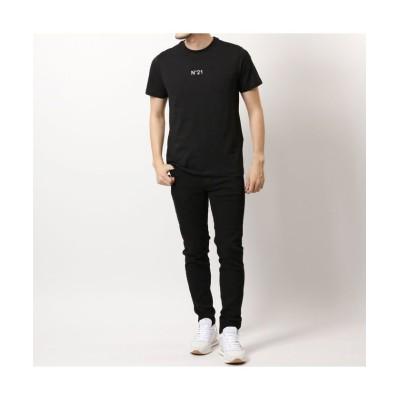 【import select Musee】 F031 6316  半袖 Tシャツ クルーネック カットソー ちびロゴT コットン メンズ ユニセックス ブラック S import select Musee
