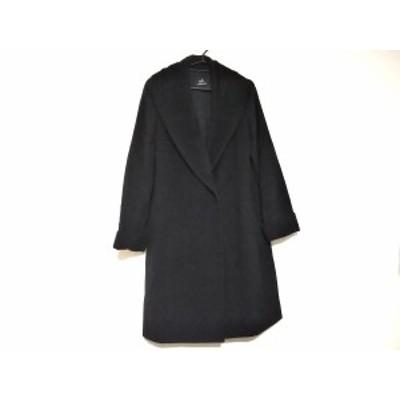 ダブリュービー wb コート サイズ38 M レディース 黒 冬物【中古】