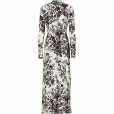 パコラバンヌ Paco Rabanne レディース ワンピース ワンピース・ドレス Floral Stretch-Crepe Dress Ivory S Paisley