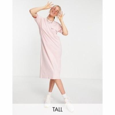 ノイズィーメイ Noisy May Tall レディース ワンピース Tシャツワンピース ワンピース・ドレス exclusive midi t-shirt dress in pink ピ