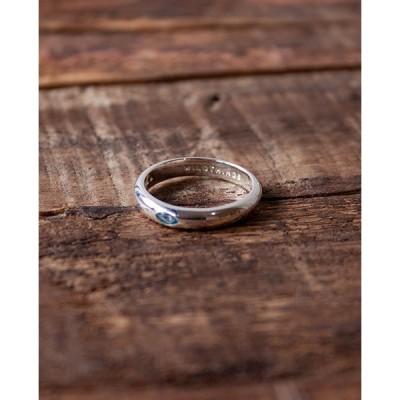 指輪 リング ハンドメイド シルバーアクセサリー スターリングシルバー925 Made in Bali Aquamarine Pebble ring silver