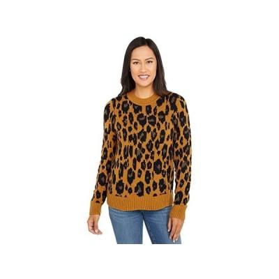 ラッキーブランド Leopard Intarsia Pullover レディース セーター Camel Heather