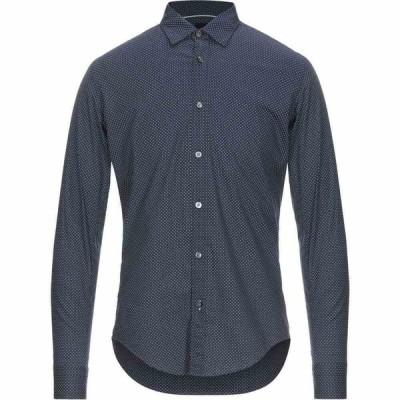 ヒューゴ ボス BOSS HUGO BOSS メンズ シャツ トップス patterned shirt Dark blue