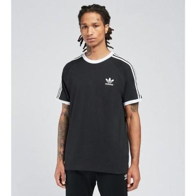アディダス Adidas メンズ Tシャツ トップス 3 stripes short sleeve tee BLACK