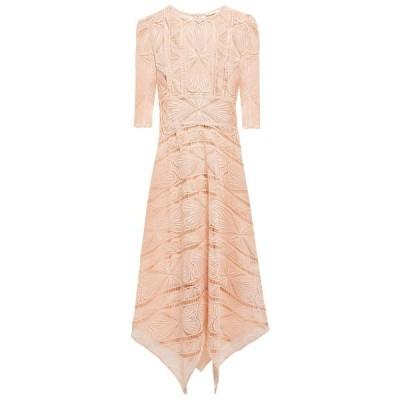 マージュ MAJE レディース ワンピース ミドル丈 ワンピース・ドレス asymmetric guipure lace midi dress Blush