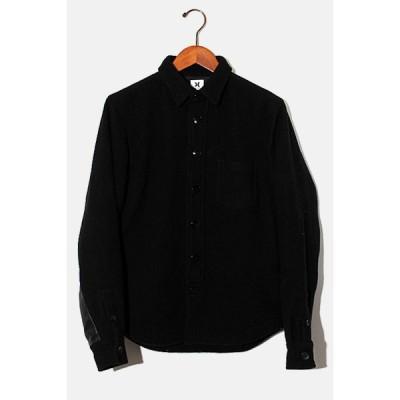 【中古】Ron Herman × Hurley ロンハーマン ハーレー 袖レザー 裏キルティング 長袖シャツ ジャケット S BLACK ブラック /◆ メンズ 【ベクトル 古着】