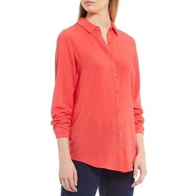 ジュールズ レディース シャツ トップス Elvina Solid Color Woven Button Front Long Sleeve Shirt