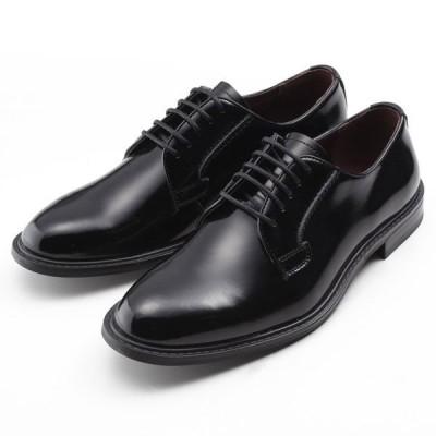 【全商品ポイント10倍】 SARABANDE サラバンド 外羽 プレーントゥ ビジネスシューズ 紳士靴 本革 ブラック 8601-BLK