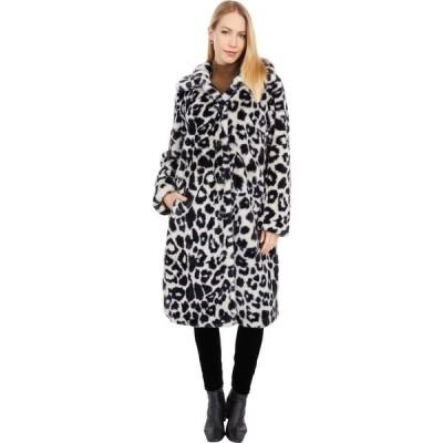 ラブトークン Love Token レディース コート ファーコート アウター Dayna Leopard Faux Fur Coat Animal