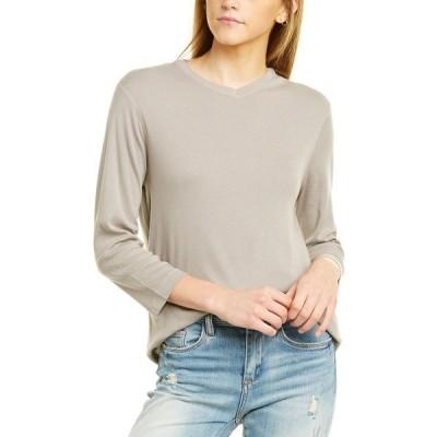 スリードッツ Tシャツ トップス レディース Three Dots EZ Fit 3/4-Sleeve T-Shirt cloudburst