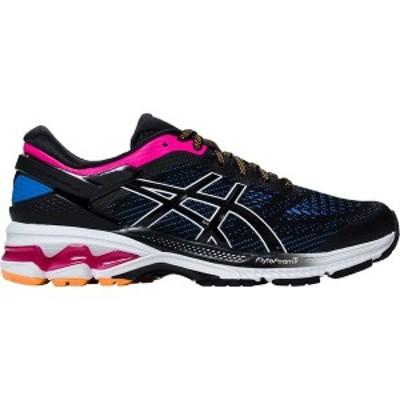 アシックス レディース ランニング スポーツ Gel-Kayano 26 Running Shoe - Women's Black/Blue Coast