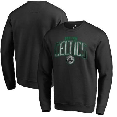 """ファナティックス メンズ スウェット """"Boston Celtics"""" Fanatics Branded Arch Smoke Pullover Sweatshirt - Black"""