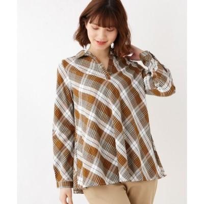 SHOO・LA・RUE / シューラルー ◆バイアスチェックスキッパーシャツ