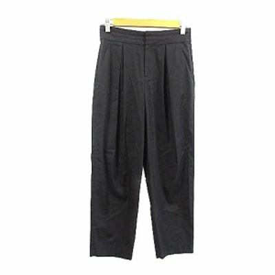 【中古】スピック&スパン ノーブル Spick&Span Noble パンツ ワイド テーパード タック 36 黒 ブラック /AAM4