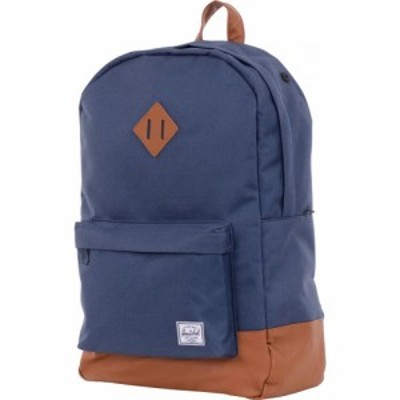 ハーシェル サプライ Herschel Supply メンズ バックパック・リュック バッグ Heritage 21.5L Backpack Navy/Tan Synthetic Leather