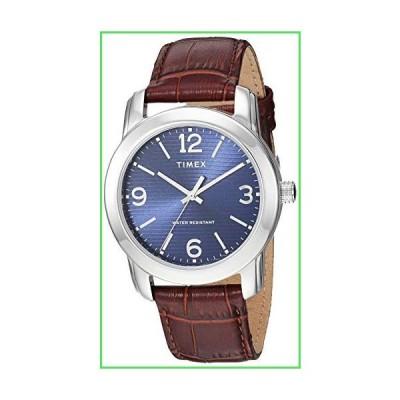 Timex メンズ クラシック 39mm 腕時計 ブラウン/シルバートーン/ブルー。