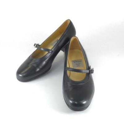 Shian シアン 靴 シアン 3813 クロ パンプス ベルト ローヒール 3E 本革 日本製 外反母趾 痛くないパンプス レディース シアンシューズ 靴 小さいサイズ 22.0cm