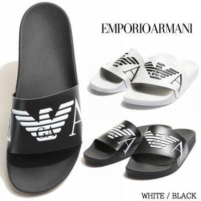 エンポリオアルマーニ メンズ サンダル EMPORIO ARMANI イーグル ロゴ スライドサンダル ブランド シャワーサンダル EAX4PS06XM760
