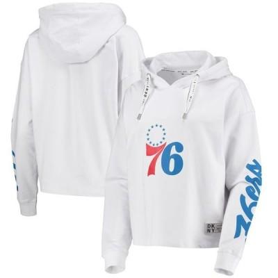 ダナ キャラン ニューヨーク レディース パーカー・スウェット アウター Philadelphia 76ers DKNY Sport Women's Suzy Pullover Hoodie White