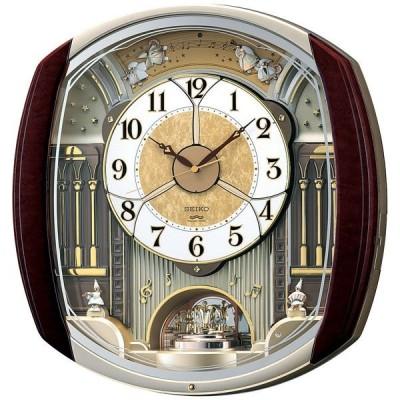 セイコー SEIKO 掛け時計 壁掛け からくり時計 RE564H ウェーブ・シンフォニー 電波時計 メロディ 音量調節 スワロフスキー