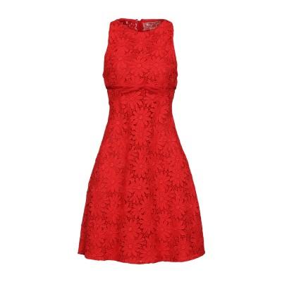 ジャンバティスタ ヴァリ GIAMBATTISTA VALLI ミニワンピース&ドレス レッド 46 コットン 100% / シルク ミニワンピース