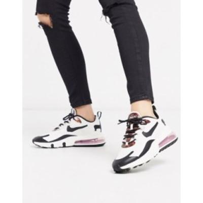 ナイキ レディース スニーカー シューズ Nike Air Max 270 React cream and Tortoise Shell trainers Cream