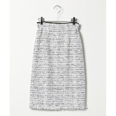 【ノーリーズ】 ファンシーツイードタイトスカート レディース ホワイト系4 38 NOLLEY'S